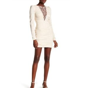 Free People Look of Love Ruched Bodycon Dress